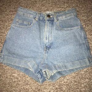 high waisted jean short